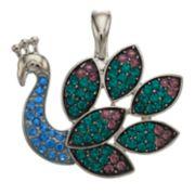 wearable ART Peacock Pendant