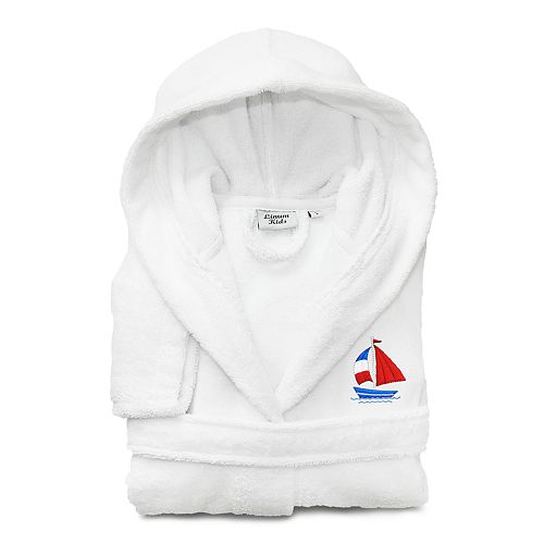 f76dd06976 Linum Home Textiles Kids Boat Turkish Cotton Hooded Terry Bathrobe