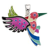 wearable ART Mosaic Bird Pendant