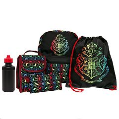 Kids Harry Potter Backpack, Lunch Tote, Cinch Bag, Gadget Case & Water Bottle Set