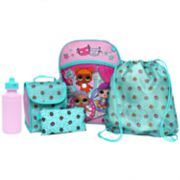 Kids L.O.L. Surprise! Backpack, Lunch Tote, Cinch Bag, Gadget Case & Water Bottle Set