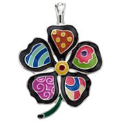 wearable ART Mosaic Flower Pendant