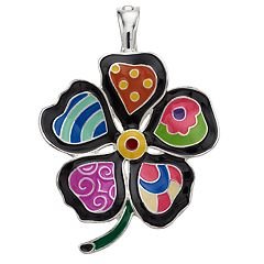 wearable ART Mosaic Flower Pendant