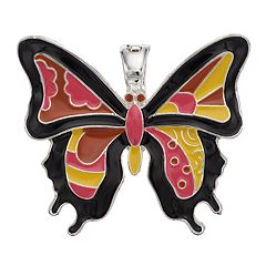 wearable ART Mosaic Butterfly Pendant