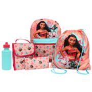 Disney's Moana Kids Backpack, Lunch Tote, Cinch Bag, Gadget Case & Water Bottle Set