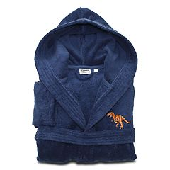 Linum Home Textiles Kids Dino Turkish Cotton Hooded Terry Bathrobe