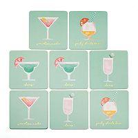 LC Lauren Conrad Vacation Cocktails Coaster Set