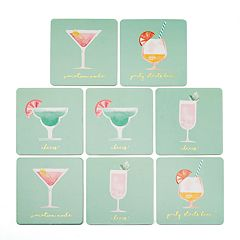 LC Lauren Conrad Vacation Cocktails Coaster Set
