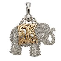wearable ART Two Tone Elephant Pendant
