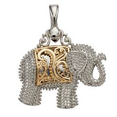 wearable ART Two Tone Elephant Pendant