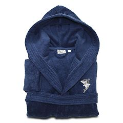 Linum Home Textiles Kids Shark Turkish Cotton Hooded Terry Bathrobe