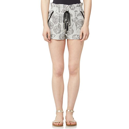 a9b757e95564 Juniors' WallFlower High-Waisted Printed Paper Bag Shorts