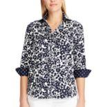 Women's Chaps Floral No-Iron Sateen Shirt