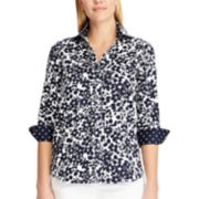 Women's Chaps Floral No-Iron Sateen Shirt