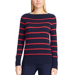 Women's Chaps Striped Boatneck Sweater