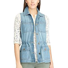 Women's Chaps Utility Denim Vest