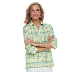 Women's Alfred Dunner Studio Plaid Shirt