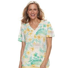 Women's Alfred Dunner Studio Tropical Print Top