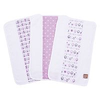 Trend Lab Lambs and Flowers 3-Pack Jumbo Burp Cloth Set