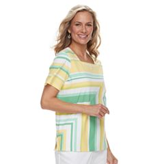 Women's Alfred Dunner Studio Spliced Striped Top