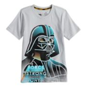 "Boys 4-7x Star Wars a Collection for Kohl's ""The Force Is Strong With This One"" Darth Vader Tee"