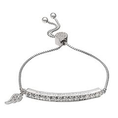 Brilliance 'Someone is Watching Over Me' Adjustable Bracelet with Swarovski Crystals