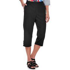 Women's Alfred Dunner Studio Pull-On Button Hem Capri Pants