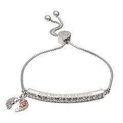 Brilliance 'Loved and Blessed' Adjustable Bracelet with Swarovski Crystals