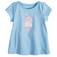 Baby Girl Jumping Beans® Graphic Shirred Swing Tee