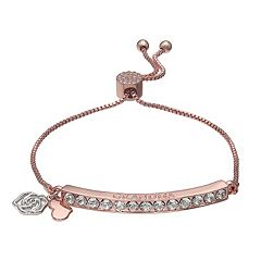 Brilliance Rose Gold Tone 'Grandma' Adjustable Bracelet with Swarovski Crystals