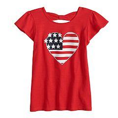 Toddler Girl Jumping Beans® Americana Flutter Bowback Tee