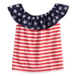 Toddler Girl Jumping Beans® Ruffle Shoulder Americana Top