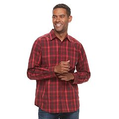 Men's Columbia Hardy Ridge Plaid Stretch Button-Down Shirt