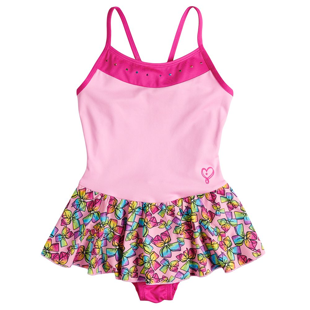 ac4debfb6 Girls 4-14 Jacques Moret JoJo Siwa Bow Print Pink Skirtall