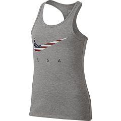 Girls 7-16 Nike Americana Swoosh Racerback Tank Top