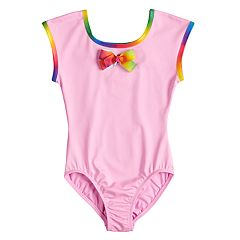 Girls 4-14 Jacques Moret JoJo Siwa Rainbow Bow Leotard