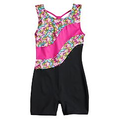 Girls 4-14 Jacques Moret JoJo Siwa Bow Print Colorblock Biketard