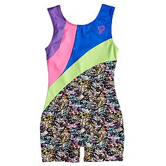 Girls 4-14 Jacques Moret JoJo Siwa Colorblocked Performance Biketard