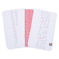 Trend Lab Fox and Feathers 3-Pack Jumbo Burp Cloth Set