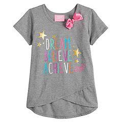 Girls 4-14 JoJo Siwa 'Dream Believe Achieve' Asymmetrical Graphic Tee