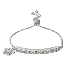 Brilliance 'Forever Friend' Adjustable Bracelet with Swarovski Crystals