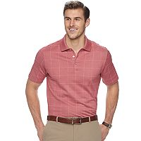 Big & Tall Van Heusen Flex Classic-Fit Windowpane Polo