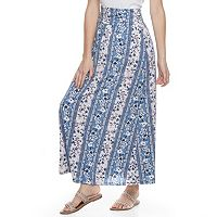 Juniors' Joe B Side-Cinch Maxi Skirt