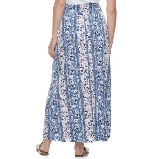 Juniors' Joe B Side-Cinch Maxi Skirt