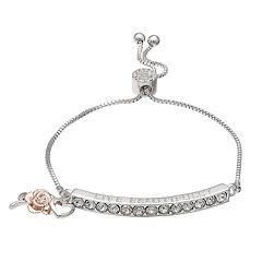 Brilliance 'Live Beautifully' Adjustable Bracelet with Swarovski Crystals