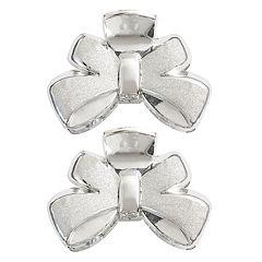 Glittery Bow Jaw Hair Clip Set