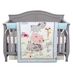 Trend Lab Farm Stack 4-Piece Crib Bedding Set