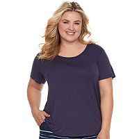 Plus Size SONOMA Goods for Life™ Pleated Crewneck Tee