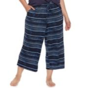 Plus Size SONOMA Goods for Life? Printed Crop Pajama Pants