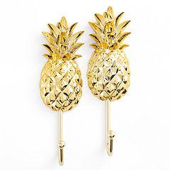 LC Lauren Conrad 2-pack Pineapple Jewelry Hooks